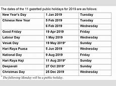 govsg Singapore public holidays 3 long weekends and a