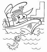 Coloring Pages Boats Ships Transportation Boat Ship Printable Preschool Worksheet Ones Little Toddler Worksheets sketch template
