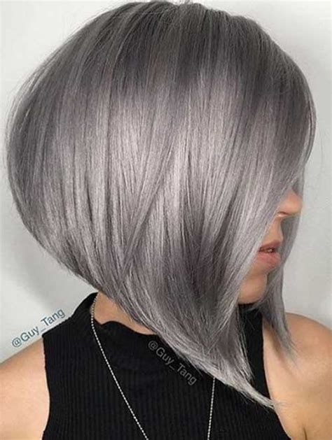 If you like to spend less than 10 minutes on hair and makeup. These Days Most Popular Short Grey Hair Ideas | Short ...