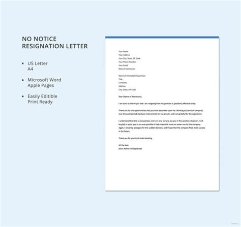 simple resign letter templates  word  excel