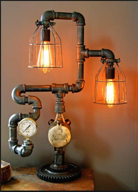 interesting industrial pipe lamp design ideas