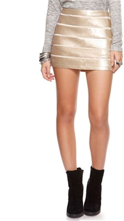 twinkling sequin mini skirt  gold lyst