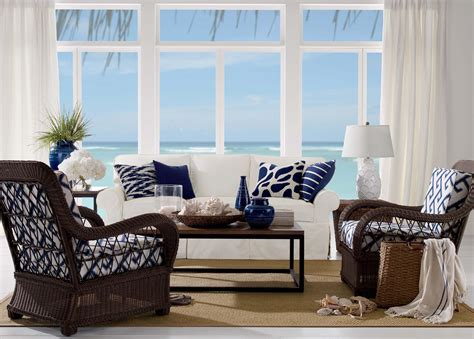Coastal Living Rooms That Will Make You Yearn For The Beach Orange Color Kitchen Dark Wood Floors With White Cabinets Open Floor Plan Living Room Best Tiles For Kitchens Repair Countertop Cabinet Hgtv Backsplash Beauties