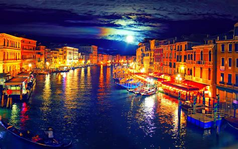 Download Venice At Night Wallpaper Gallery
