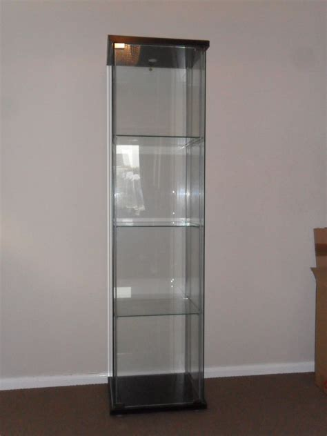 ikea detolf glass door display cabinet unit in great