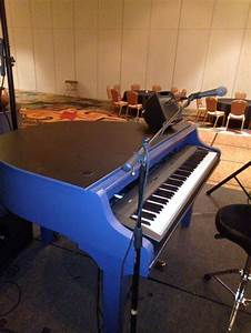 Blue four foot Mini piano shell with laminate black top ...