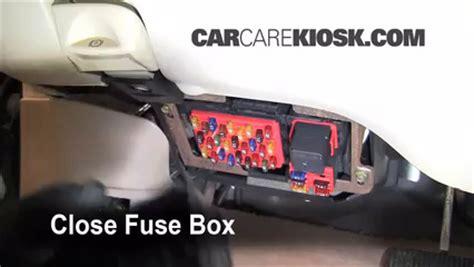 interior fuse box location   lincoln town car