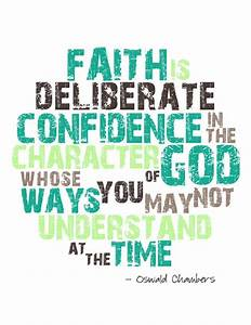 Oswald Chambers... God And Confidence Quotes