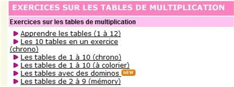 jeu de lulu table de multiplication 28 images apprendre les tables de multiplication en