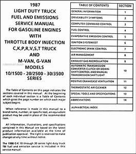1987 Chevrolet Pickup Van Motorhome Fuel  U0026 Emissions