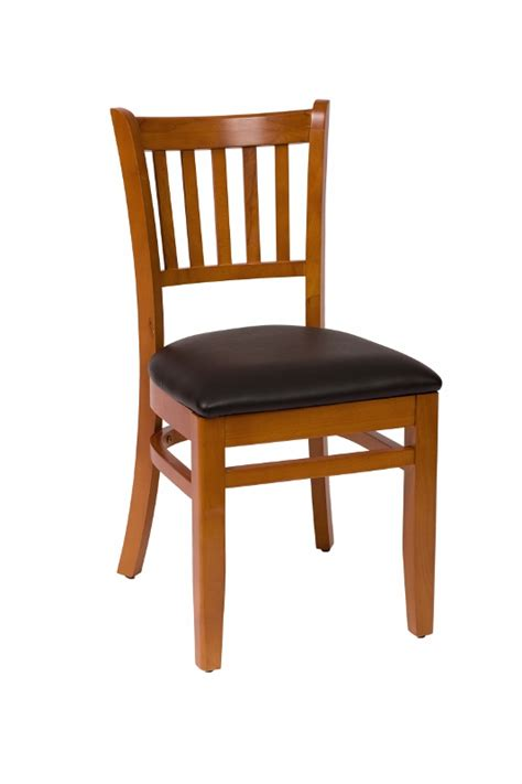 commercial wooden vertical back dining chair bar