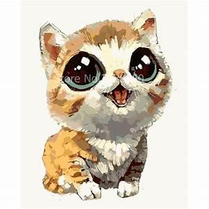Cat Baby Kawaii Animal DIY Painting By Numbers Kits