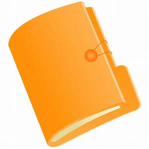 Document Folder Orange Icon - Document Folders Icons ...