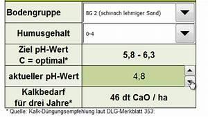 Schwefelsäure Ph Wert Berechnen : d ngekalk kosten ha kalkbedarf berechnen ackerland ~ Themetempest.com Abrechnung