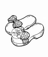 Coloring Sandals Printable Jittu sketch template