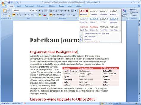 Windows Microsoft Word by Microsoft Word 2007 Version Upgrade