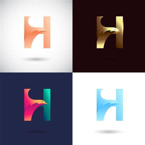 creative letter  logo design   color version vector  bird logo concept abstract