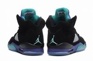 Air Jordan 5 Retro Black/New Emerald-Grape Ice Cheap For ...