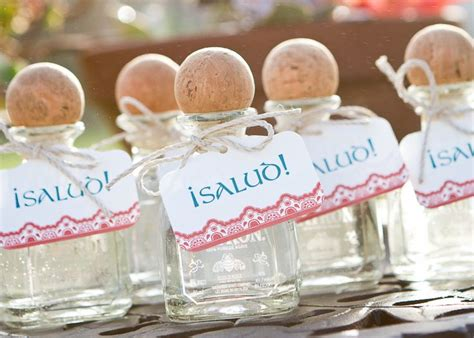 mini tequila party favors wedding favors mexican
