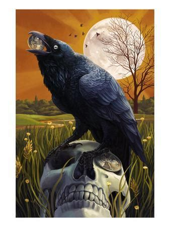 raven  skull posters  lantern press  allposterscom