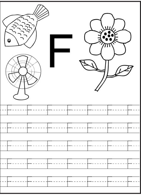 Letter F Worksheet For Preschool And Kindergarten  Activity Shelter