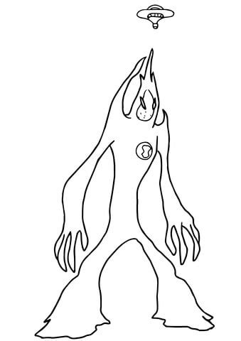 ben  alien force goop coloring page  printable coloring pages