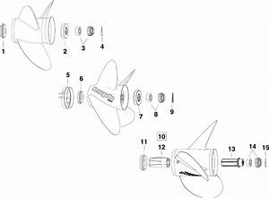 Evinrude Propeller Hardware Parts For 2010 200hp
