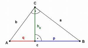 Höhe Vom Dreieck Berechnen : gr en seiten im rechtwinkligen dreieck berechnen satz des pythagoras kathetensatz ~ Themetempest.com Abrechnung