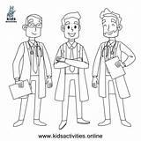 Coloring Doctor Doctors Sheet Thank Printable Activities Smiley Drew sketch template