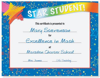 star student award casual certificates paperdirect blog