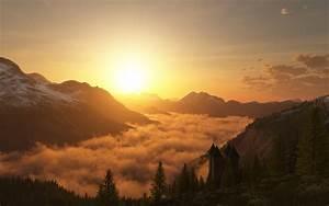 Mountain Sunset Backgrounds | wallpaper, wallpaper hd ...