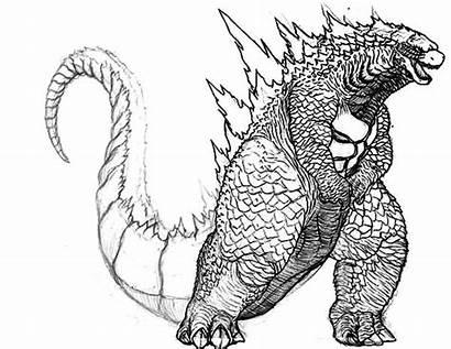 Coloring Godzilla Pages King Printable Pacific Rim