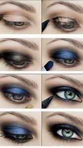 Smokey Eyes Blaue Augen : augen makeup blau kleidsam ~ Frokenaadalensverden.com Haus und Dekorationen