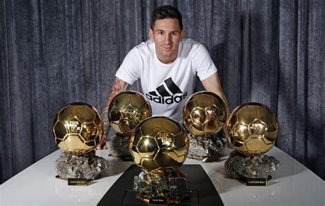 Messi with Ballon De Oro