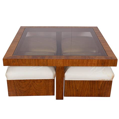 glass ottoman coffee table drexel consensus collection glass top cocktail table with