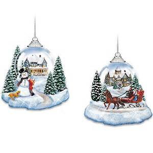 Thomas Kinkade Christmas Tree Ornaments by Thomas Kinkade Market First Joy To The World Lighted