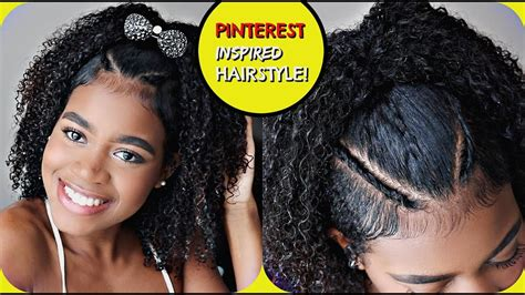 easy pinterest inspired hairstyle  naturally curly hair