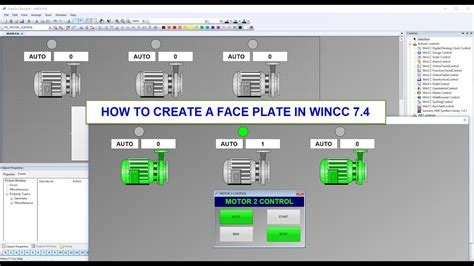 Wincc Tutorial How To Create A Face Plate Classic In Wincc 74 Youtube