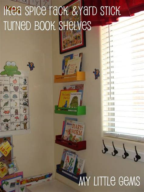 Ikea Spice Rack Book by Ikea Spice Rack Turned Book Shelves Great For A Kid S Room