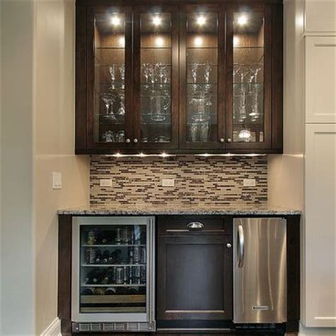 Bar With Sink And Refrigerator by Small Bar With Mini Fridge Sink Overhead Glass
