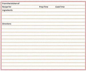 full page recipe template for word - blank recipe card template microsoft word templates