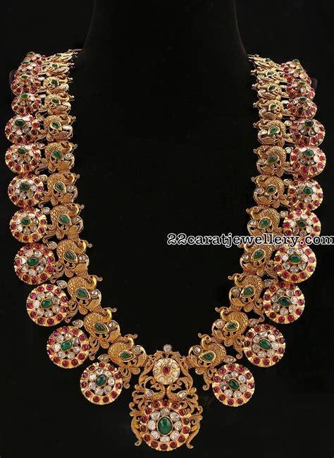 Floral Antique Bottu Mala - Jewellery Designs