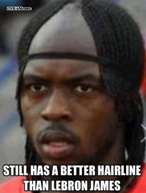 Lebron Headband Meme - still better the 50 meanest lebron james hairline memes of all time complex