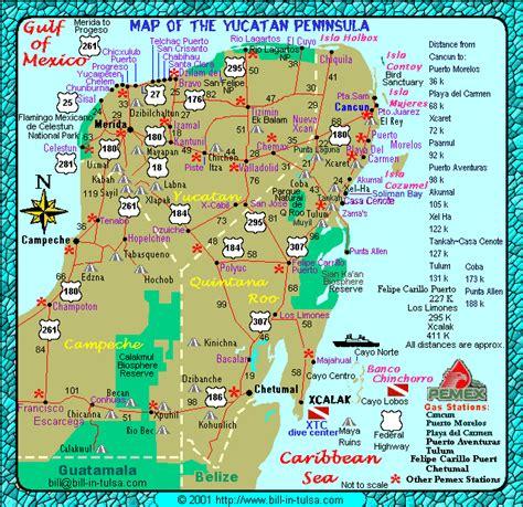 map   yucatan xcalak rental properties   costa