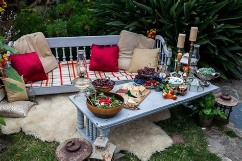 Kara's Party Ideas Backyard Vintage Girls Night Soiree