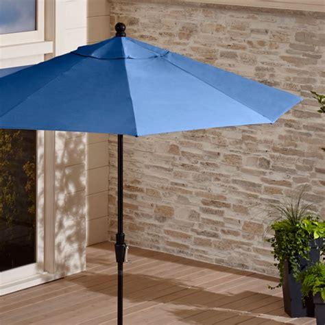 sunbrella blue market umbrella reviews crate  barrel