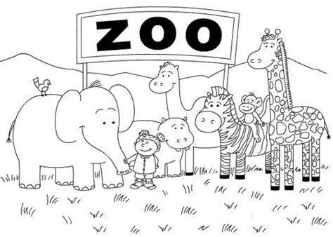 zoo coloring pages   print