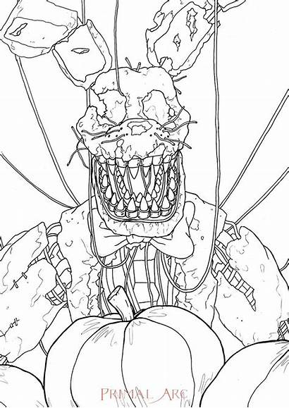Bonnie Colouring Coloring Jack Sheet Pages Freddy