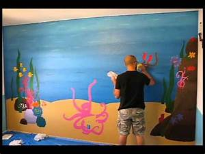 Underwater Mural Easy Street Art Company Time Lapse