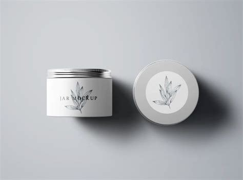 On the top of the jar cap you can use either plastic cap or paper cap and place design. Great Place for Mockups | Cosmetics mockup, Mockup, Box mockup